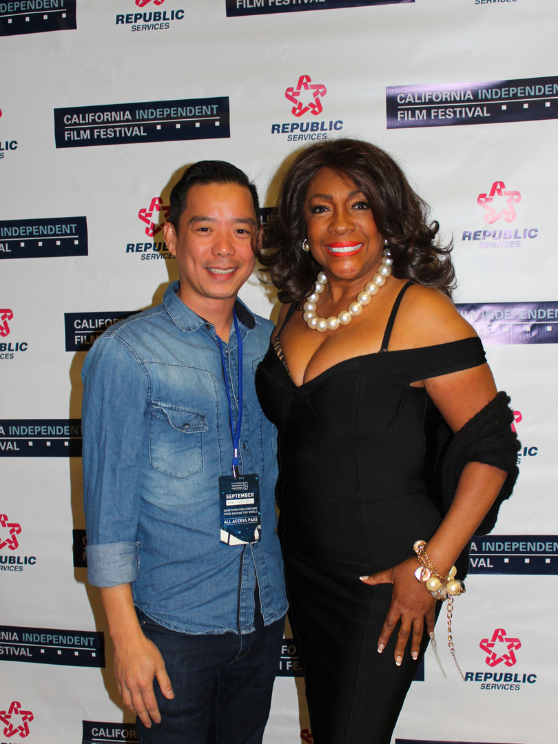 Jospeh Cabrera and Mary Wilson (Supremes)