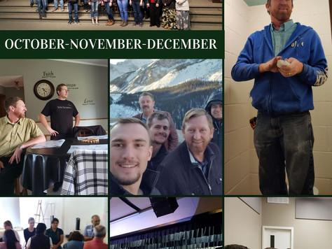 October, November & December Newsletter