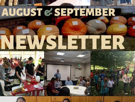 August & September Newsletter