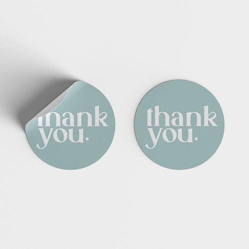 Thank You Stickers, Elegant