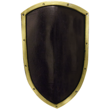 Black and Gold Ready For Battle Kite Shield