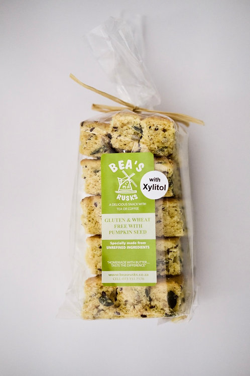 Gluten & Wheat Free with Pumpkinseed & Xylitol