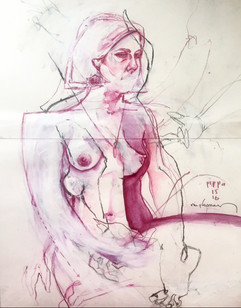 Life drawing - Pippa