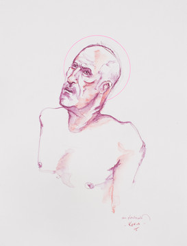 Life drawing - Kevin (saint study)