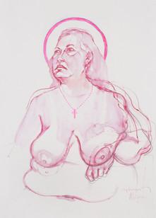 Life drawing - Alison (saint study)