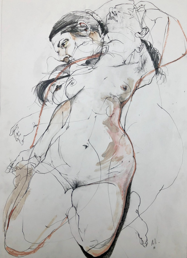 Life Drawing Composition