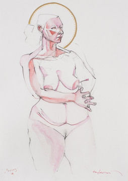 Life drawing - Tracey (saint study)