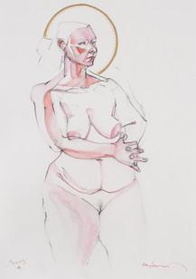 Life drawing - Tracey (saint study)