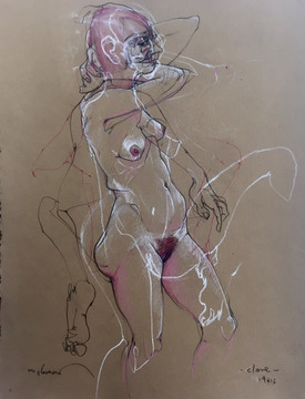 Life Drawing - Clare