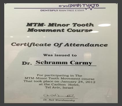 """מרפאת שיניים ד""""ר ליבי כרמי - תארים ותעודות הסמכה"""