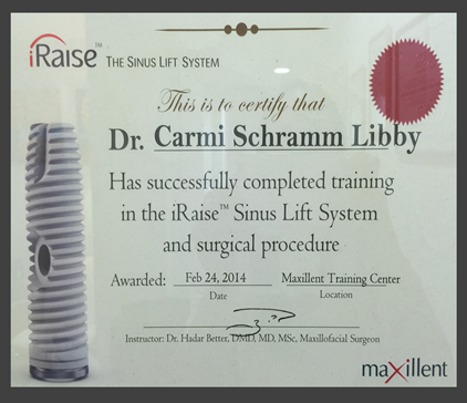 Dr Libby Carmi - Dental Clinic in Tel-Aviv - Certificates