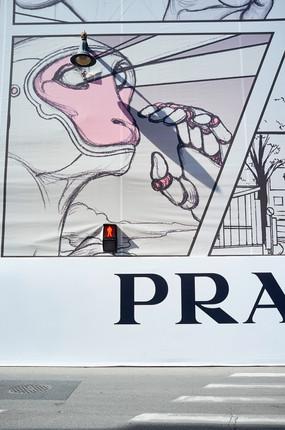 Construction, Prada, 2018/2021