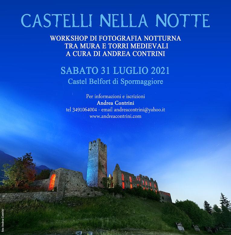 castelli nella notte