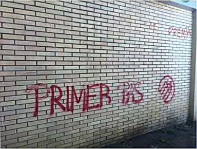 Limpieza de grafiti despues