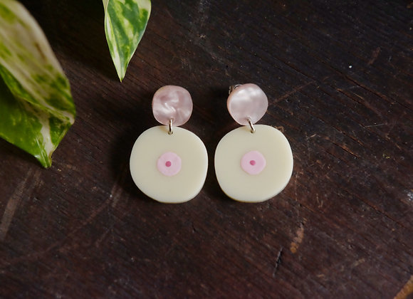 Pink and Light Boob Studs