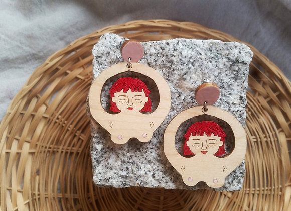 Juno Earrings in Maple