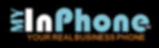 My InPhone logo with slogan - black back