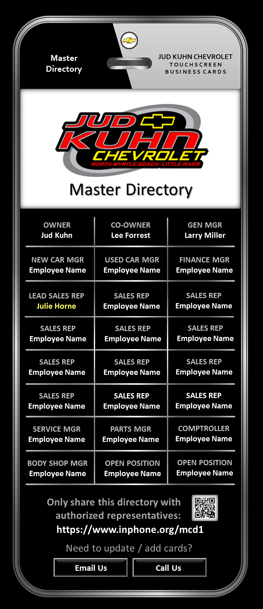 Master Directory Sample - For Presentati