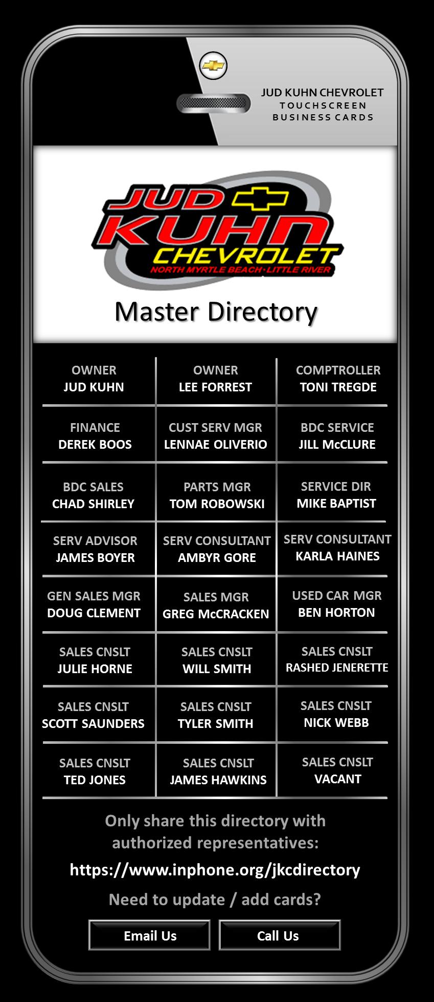 Jud Kuhn Chevrolet Master Directory.png