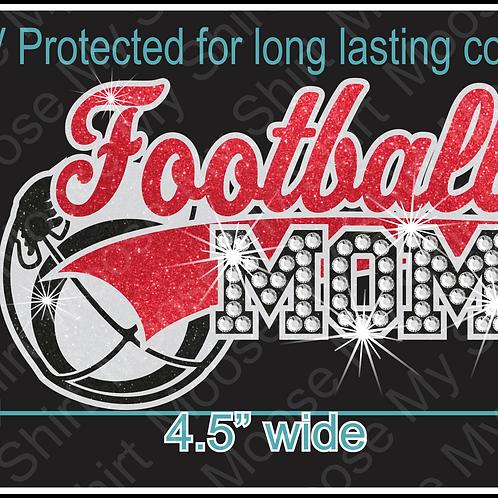 Multi-dec Sports Mom Football Car Decal Window Sticker