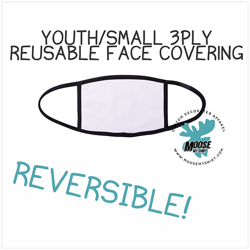 Youth/Small 3 Layer Face Covering - reversible!