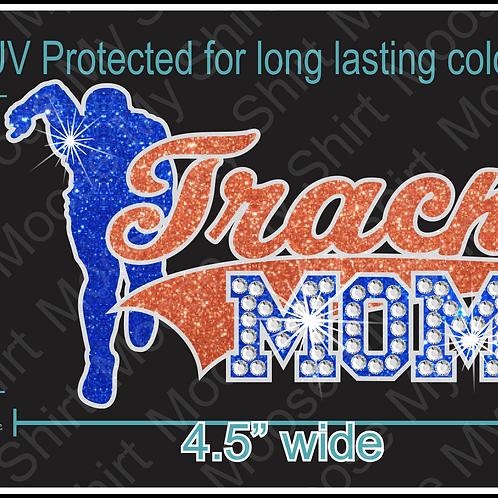 Multi-dec Sports Mom Track Car Decal Window Sticker