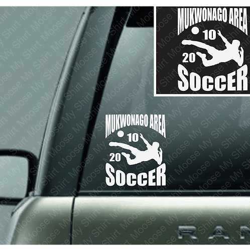 PERSONALIZED Mukwonago Area Kickers car decal - 2 versions available!