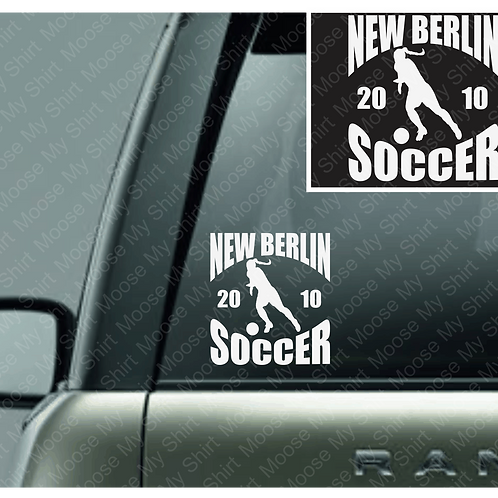 PERSONALIZED New Berlin Area Kickers car decal - 2 versions available!