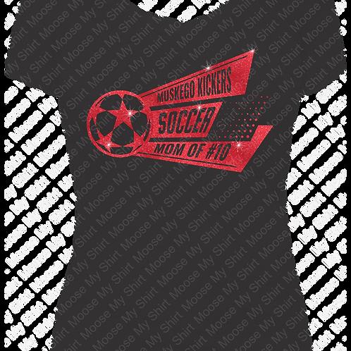 Soccer Mom V-neck Tee - Muskego