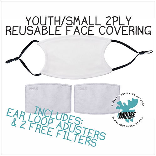 Youth Double Layer Face Covering w/  2 free filters!
