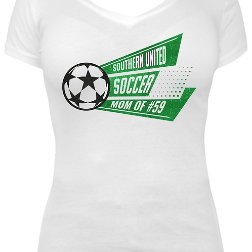 Soccer Mom V-neck Tee - Southern United