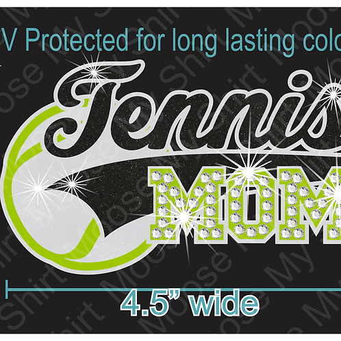 Multi-dec Sports Mom Tennis Car Decal Window Sticker