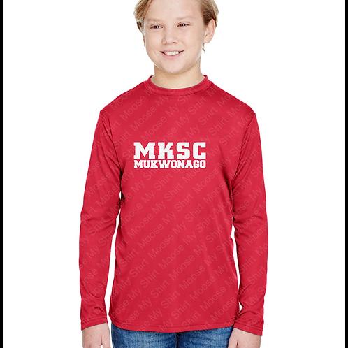Long Sleeve Youth MKSC Mukwonago performance shirt