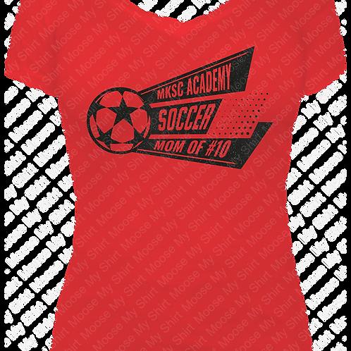 Soccer Mom V-neck Tee - MKSC Academy