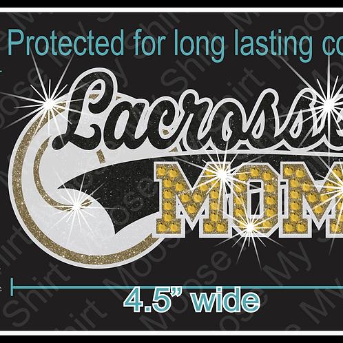 Multi-dec Sports Mom Lacrosse Car Decal Window Sticker