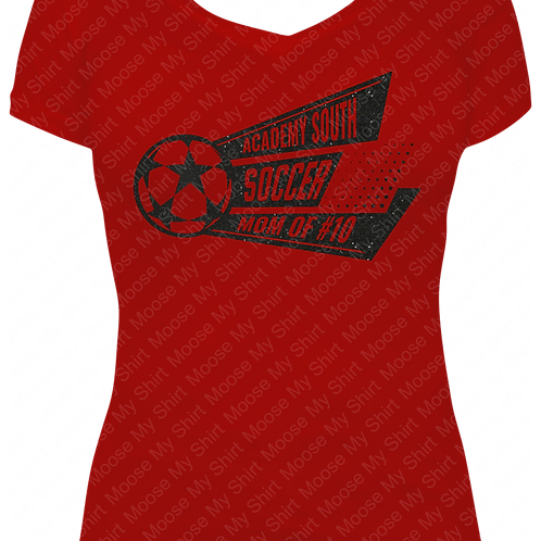 Soccer Mom V-neck Tee - MKSC Academy SOUTH