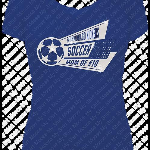 Soccer Mom V-neck Tee - Mukwonago