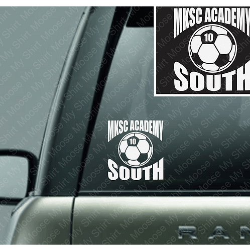 MKSC Academy SOUTH car decal - 3 version available!