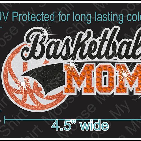 Multi-dec Sports Mom Basketball Car Decal Window Sticker