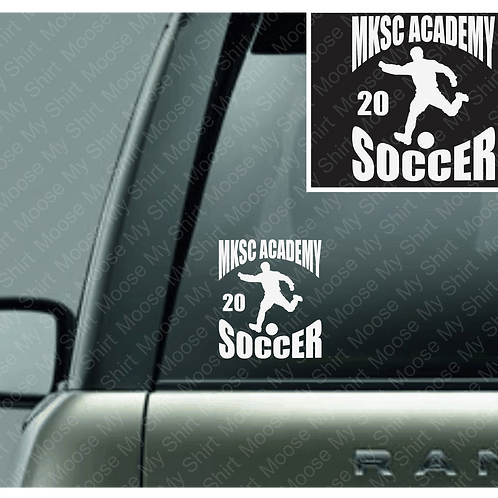 MKSC Academy car decal - 2 version available!