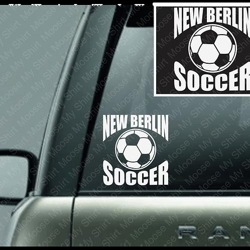 New Berlin Area Kickers car decal