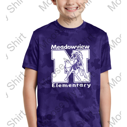 Meadowview Youth CamoHex DriFit Tee
