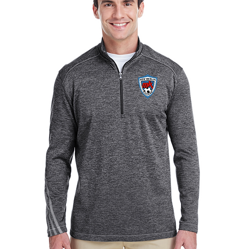 New Berlin Kickers Adidas Men's 3-Stripes Heather Quarter-Zip