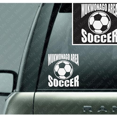 Mukwonago Area Kickers car decal