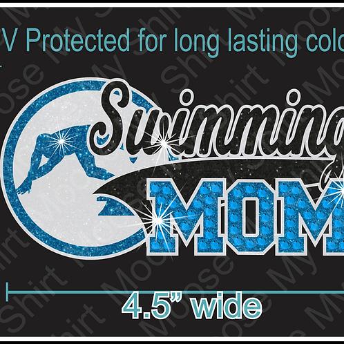 Multi-dec Sports Mom Sswimming Car Decal Window Sticker