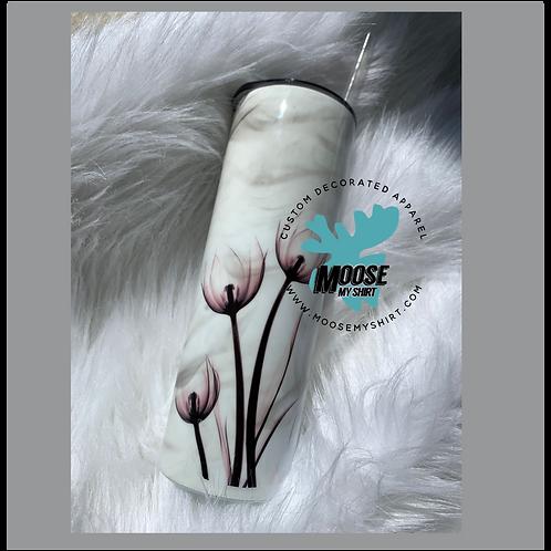 Custom Smoke X Ray Tulips soft pink Stainless Steel Tumbler