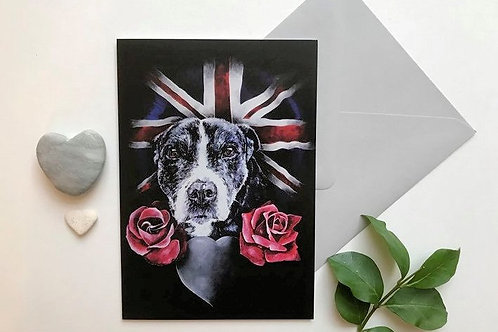 Staffie Art Card