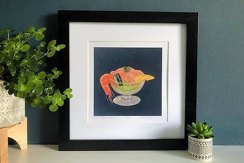 'Party Prawn Cocktail' Limited Edition Print & Card