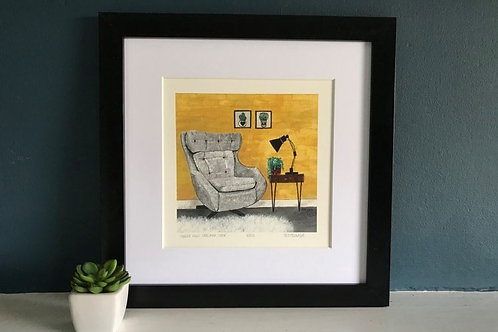 'Parker Knoll Statesman Chair' Giclee Print