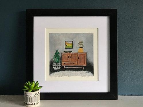 'Ercol Windsor Sideboard' Giclee Print